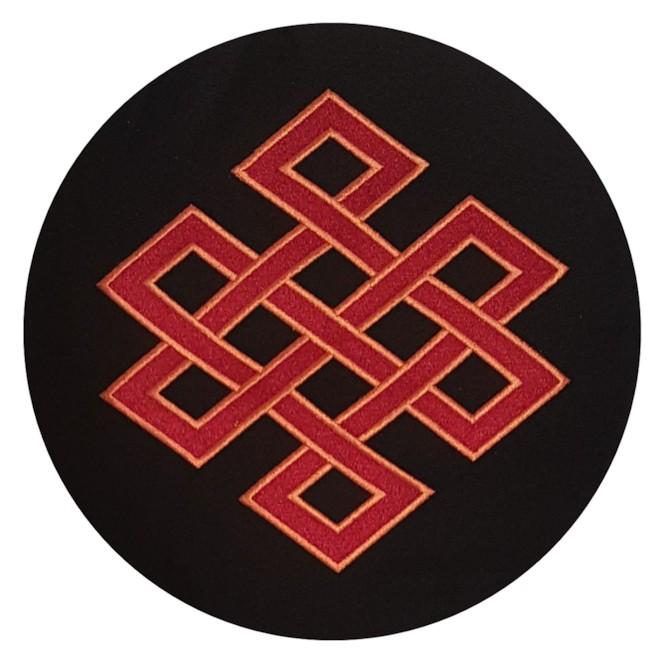 Meditation Cushion Raja Eternal Knot Yogitri Night Black Bodhi